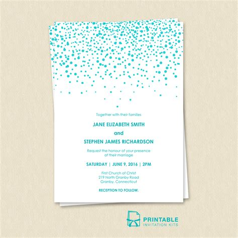 printable invitation kits modern sprinkles wedding invitation wedding invitation