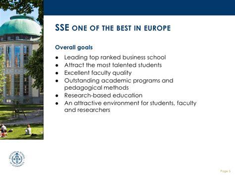 Stockholm School Of Economics Mba by Stockholm School Of Economics Handelsh 246 Gskolan I