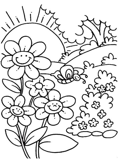 is for spring coloring pages spring coloring pages for