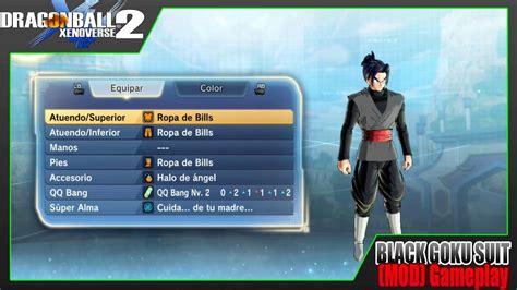 dragon ball xenoverse  black goku suit  cac mod