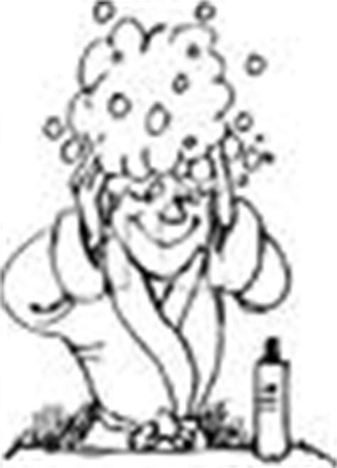 washing hair coloring pages shoo clip art images
