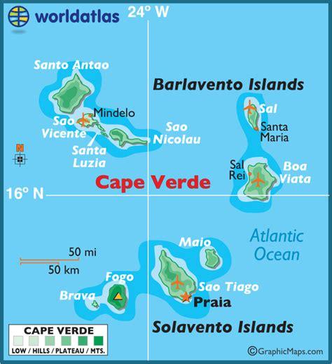 cape verde islands map cape verde large color map
