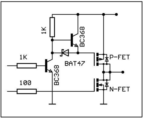 transistor jfet kanal n n kanal mosfet treiber diskret mit npn und pnp mikrocontroller net