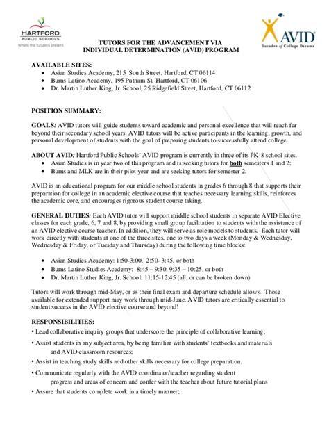avid tutors description for posting 2015 2016