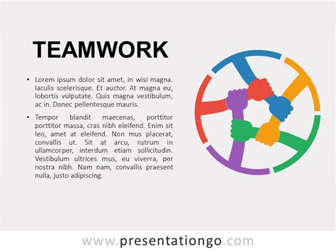 Teamwork Metaphor Powerpoint Template Free Teamwork Powerpoint Templates