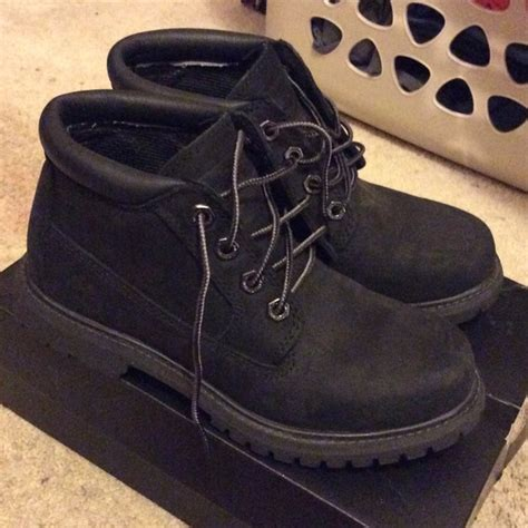 timbs shoes timberland black low cut timbs from chia s closet on