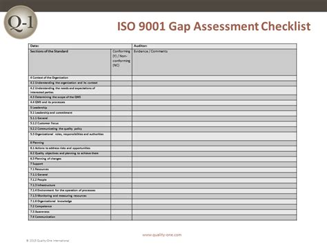 iso 9001 checklist template iso 9001 consulting quality management systems