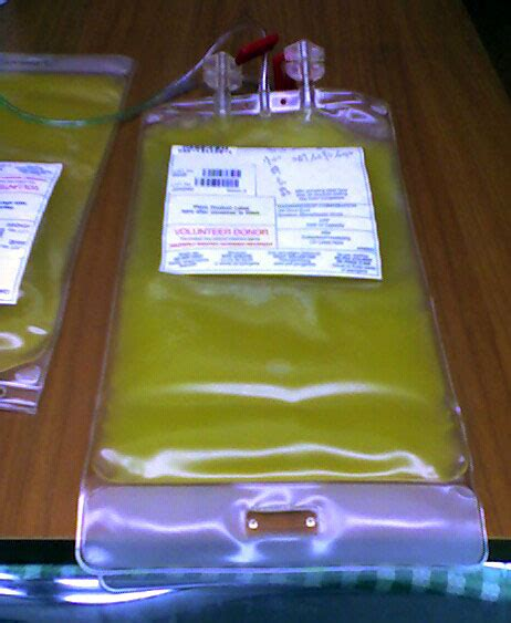 what color are platelets plateletpheresis