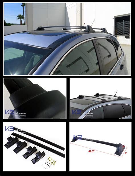 Honda Crv Roof Racks by For 2007 2011 Honda Crv Black Roof Top Rail Rack Cross Bars Carrier Ebay