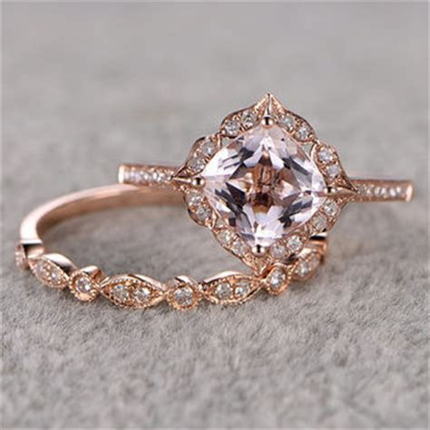 Shop Rose Gold Engagement Ring Etsy on Wanelo