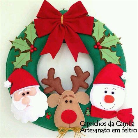 imagenes navideñas en fieltro 17 mejores ideas sobre adornos de navidad de fieltro en