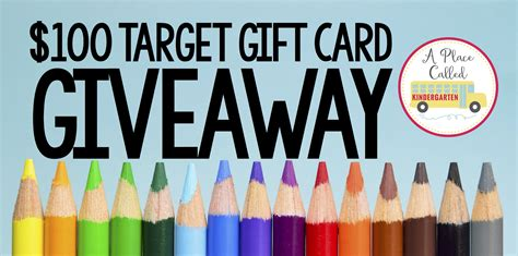 Target 100 Dollar Gift Card - a place called kindergarten 100 target gift card giveaway