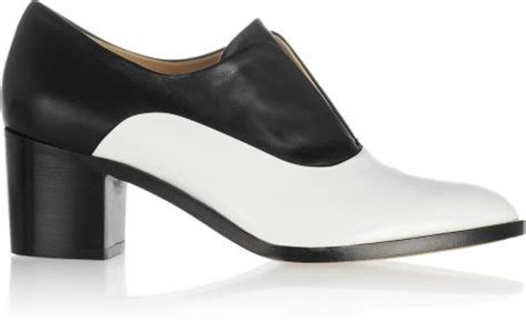 reed krakoff oxford shoes reed krakoff two tone leather oxford shoes in white lyst