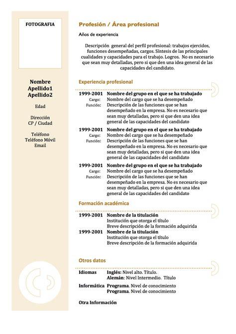 Plantilla De Curriculum Funcional curr 237 culum vitae modelo 3 tienda de curriculum vitae