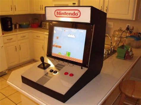 How To Build A Bartop Arcade Cabinet Nes Bartop Arcade Cabinet Makes You Rethink What A Kitchen