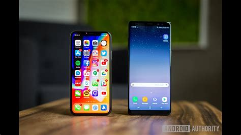 samsung galaxy note 8 android 8 0 oreo vs iphone x speed