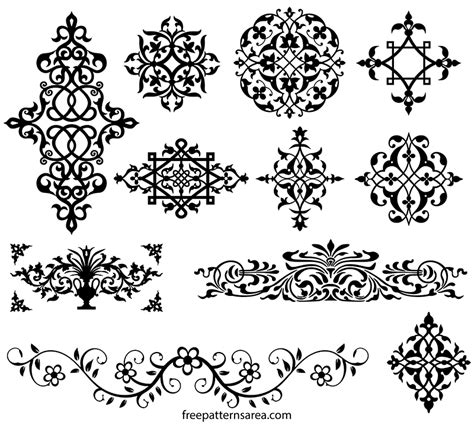 floral ornament  vector desing freepatternsarea