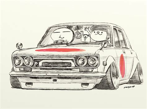 stanced cars drawing car jdm pencil and in color car jdm