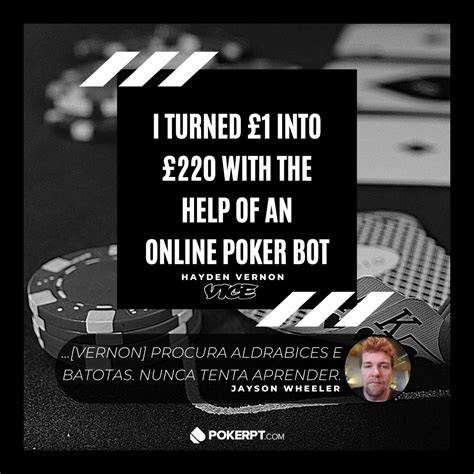 batoteiro disfarcado de jornalista usa poker bot na bet pokerptcom