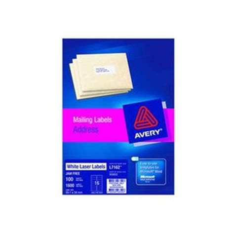 printable labels officeworks avery laser address labels white 100 sheets 16 per page