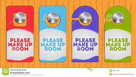 make up the room hotel hanger sign make up the room stock vector image 33217103