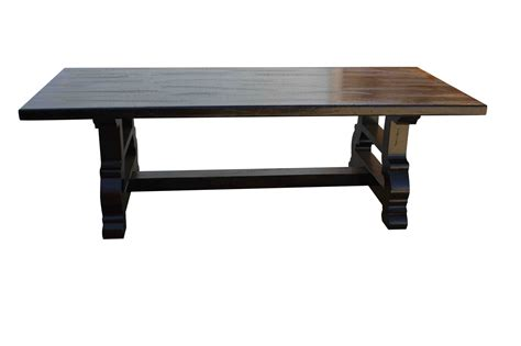 Rustic Trestle Dining Room Tables Rustic Trestle Dining Room Tables Peenmedia