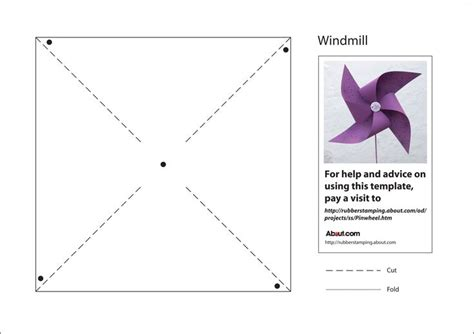 Make A Paper Windmill - make a paper pinwheel with this free pdf template