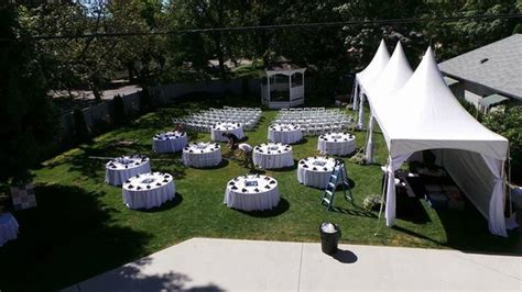 Backyard Wedding Setup Ideas by Backyard Wedding Setup In Progress Both Ceremony And Reception Done At The Blackwell