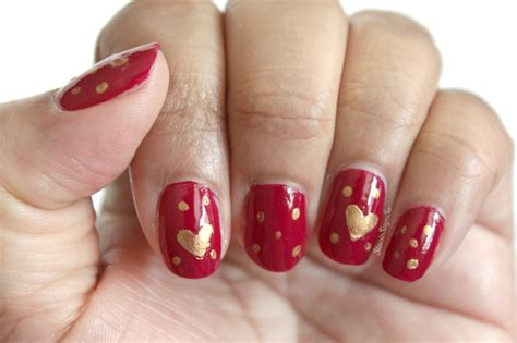 easy valentines nails easy s day nail anyone can do stacie raye
