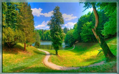 imagenes de paisajes verdes para pantalla fondo pantalla bonito paisaje verde lago