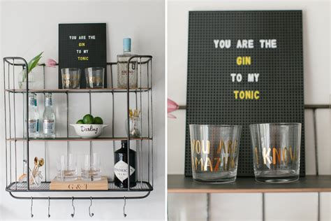 Gin Shelf by How To Create The Gin Shelf Bar Cart Alternative