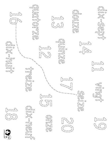 french numbers 1 20 printable worksheets worksheet numbers 1 20 in french french number