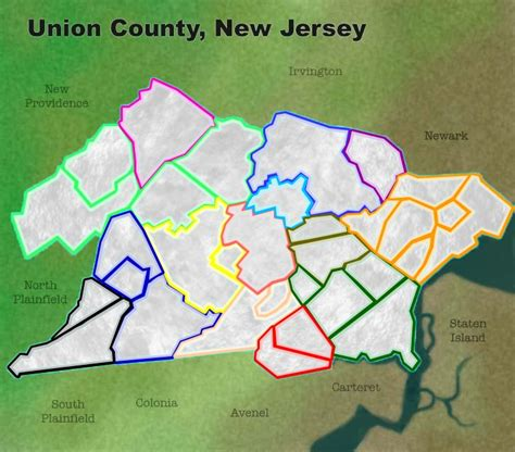 Union County Nj Records Union County New Jersey Map
