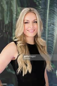 Skier lindsey vonn poses for a portrait while visiting extra at