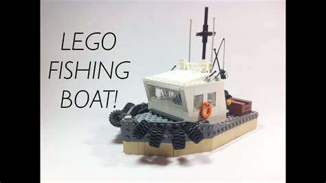 lego city fishing boat speed build lego fishing boat moc youtube
