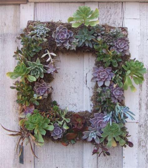 Vertical Garden Frame Diy Friday Find Succulent Wreath And Diy Vertical Garden
