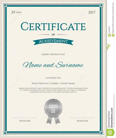 certificate achievement template certificate of achievement template in vector stock