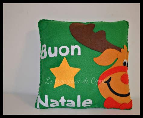 cuscini fatti a mano cuscino in pannolenci renna fatto a mano per la casa e