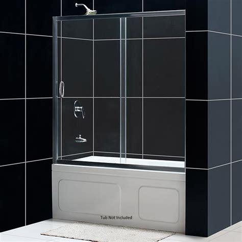 dreamline bathtub doors dreamline infinity sliding glass tub door shdr 1060586