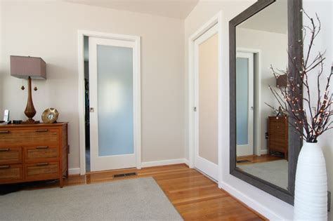 frosted glass pocket door bathroom master bath closet with frosted glass pocket doors