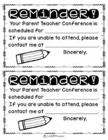 reminder templates for teachers thehappyteacher parent conferences 8 more tips