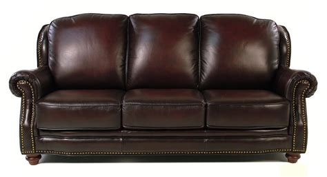 Leather Nailhead Sofa by Loft Leather Wallingford Traditional Leather Sofa W