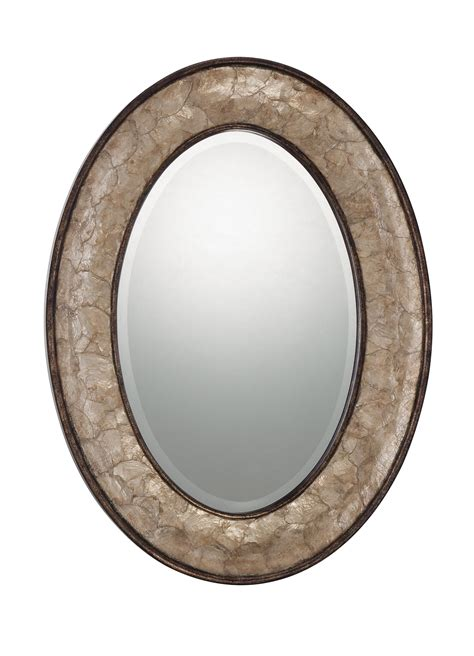 quoizel qr11681 sloan 30 quot oval wall mirror in gold tones