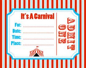 Carnival Themed Invitations Templates Free by Carnival Invitation Template Best Template Collection