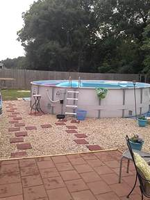landscaping around above ground pool pool pinterest