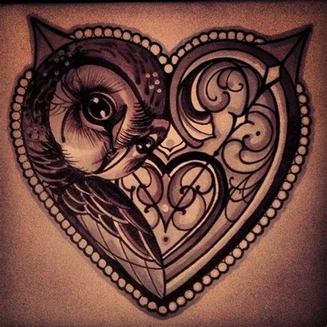 tattoo owl heart love heart owl tattoo corujas tatoo pinterest