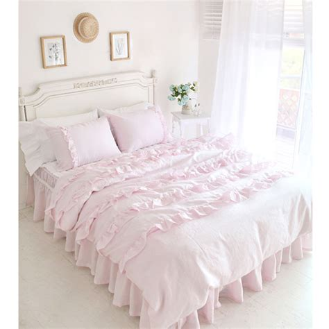 Pink Size Comforter by Textile Beautiful Pink Lace Ruffled Comforter Sets Duvet