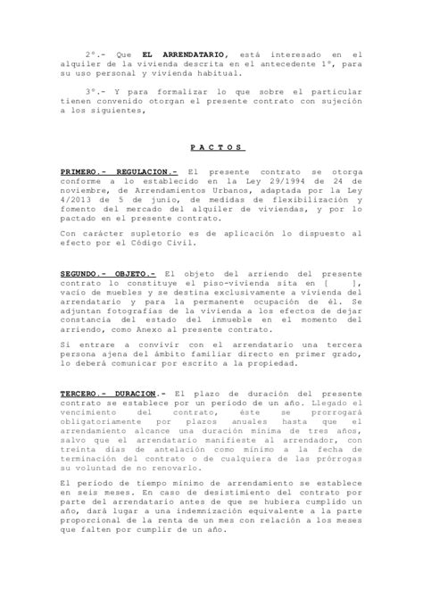 contrato alquiler vivienda 2015 word modelo contrato alquiler word 2015 modelo contrato de