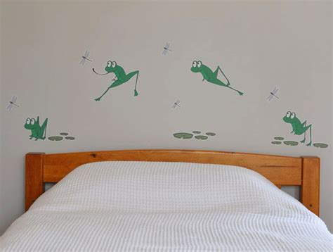 frog wall stickers nursery wall decals jumping green frog decals felt