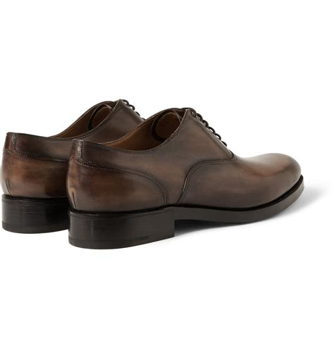 leather oxford shoes for berluti verona leather oxford shoes in brown for lyst